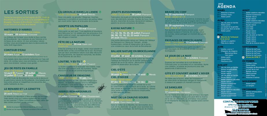 CPIE Forêt de Brocéliande Sorties 2018