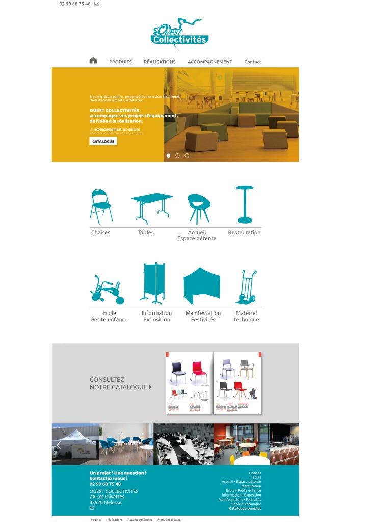 Maquette homepage site Ouest Collectivités